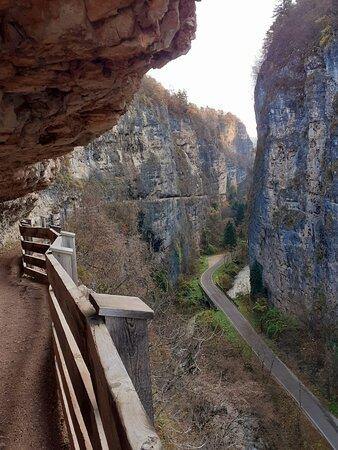 Sanzeno, Italie : Sentiero nella Roccia per San Romedio