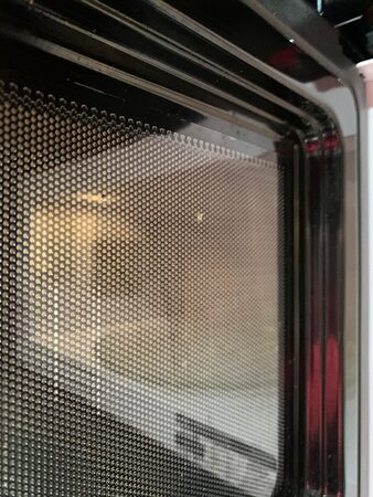 Another pic of the nasty microwave.  Also they left dishes in the dishwasher with a post it saying they were clean.  Knife in the drawer was filthy.