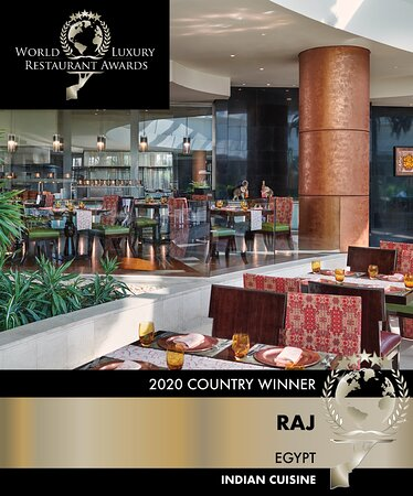 Raj Restaurant, Indian cuisine at Hilton Cairo Heliopolis is the country winner of the official 2020 World Luxury Restaurant Awards as the best Indian cuisine in Egypt