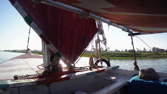 Private Luxor Nile River Felucca Ride to the Banana Island at Sunset Photo