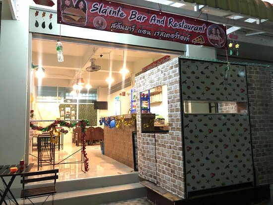 front of slainte bar restaurant not far from buriram bus terminal