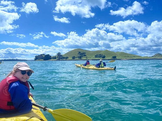 Half day kayak tour to Motukorea island: Motukorea here we come!