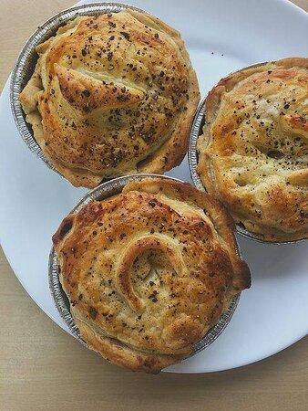 Stuston, UK: Homemade pies