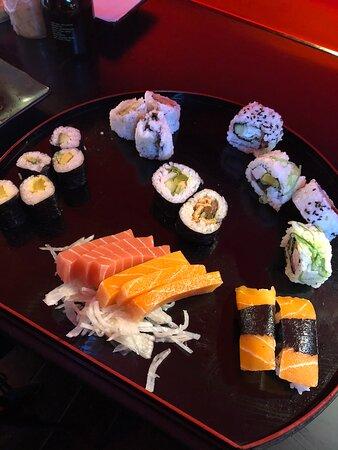 Delicious vegan sushi