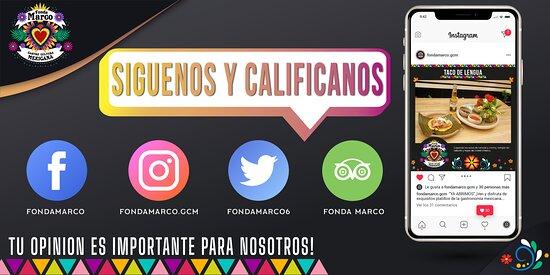 En #FondaMarco Siempre es un placer atenderte y agradecemos tu compra, Síguenos en nuestras redes sociales, comparte con nosotros tu experiencia y mándanos tus fotos con nuestras delicias!📸🙌😍  📌Facebook➡ /FondaMarco 📌Instagram➡@fondamarco.gcm 📌Twitter➡@fondamarco6 📌Tripadvisor➡/Fonda Marco Encuéntranos Ubicados en: 📍 Dr. José Felipe Flores No.1 Entre Insurgentes y Av. Juárez,  Zona Centro, San Cristóbal de las Casas, Chiapas. 📲 Tel: 962 152 8555