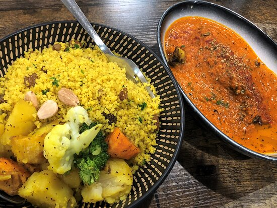 KARFA fish and prawn tagine with couscous