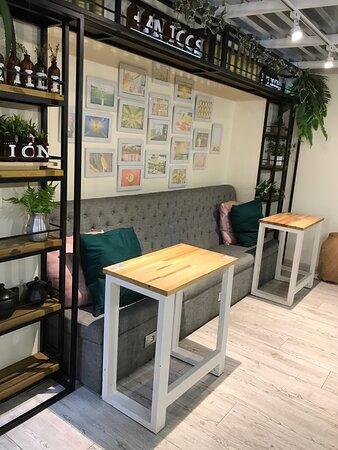 Matilde Coffee Market's handsome indoor decor
