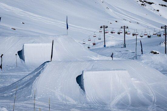 La Parva, Χιλή: Snow Park linea avanzada de saltos.