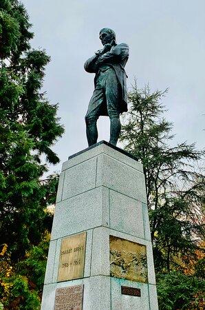 Robert Burns Statue in Stanley Park