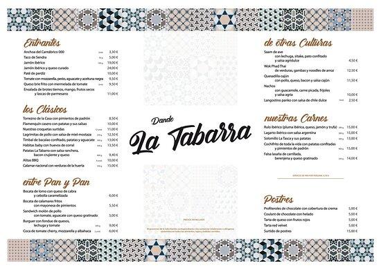 Mengibar, إسبانيا: Nuestra carta tradicional