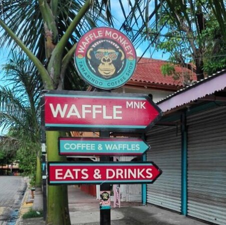 Follow the sign to Waffle Monkey