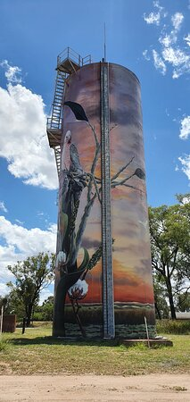 Moura Water Tower Art