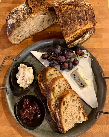 House made bread with Bluefish Pate