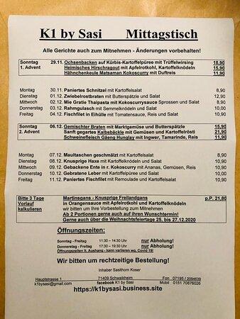 Schwaikheim, Germany: Mittagstisch Dezember