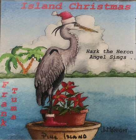 🎶Available in our gift shop, Island Christmas, Hark the Heron Angels Sing, by Frank Tuma🎅Tis the season!