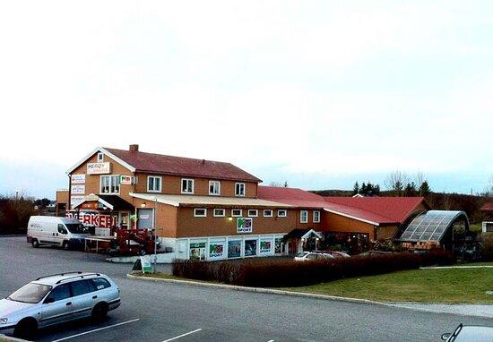Heroyholmen, Norge: Herøysenteret fra ho9vedvegen
