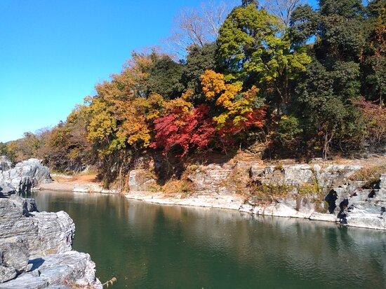 紅葉と石畳