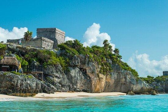 四个地方合而为一-Coba,Tulum,Cenote和Playa del...