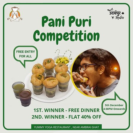 Pani puri competition @ Yummy Yoga