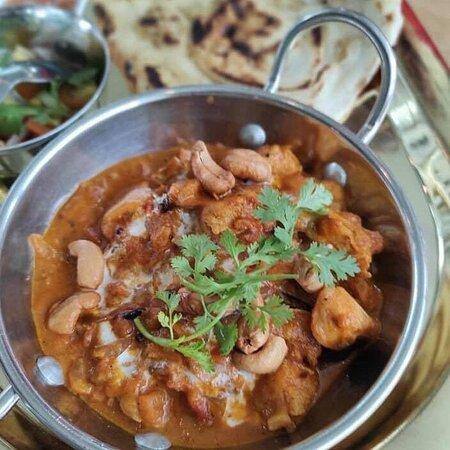 #เมนูแนะนำวันนี้😋 #เราเที่ยวด้วยกัน🛺 #คนละครึ่ง🧩 #พอดีคำ🍳  #indianfood  Chicken Tikka Masala & naan. #แกงไก่ทิกก้ามาซาล่า #ทานกับแป้งนานกระเทียม ฿169.-  #indiandessert Gulab Jamun & Rasgulla. #กุหลาบจามุน #รัสกูร่า ฿85.-  #fusionfood  #ทาโก้สลัดกุ้งทอด🌮🌮  ฿150.- #ข้าวหน้าเนื้อมองโกล ฿99.- #ไข่ออนเซน🍳🍃 ฿15.- #ขอบคุณรูปสวยๆจากลูกค้านะคะ🙏🏻😍