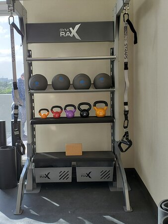 Fitness room with natural light