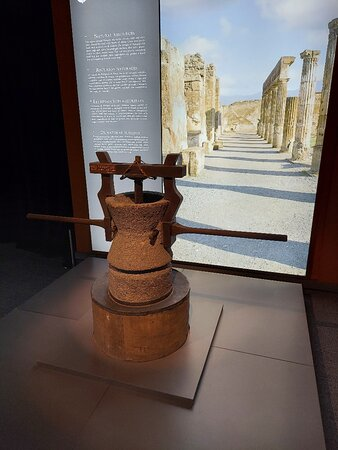 An olive oil press from Pompeii