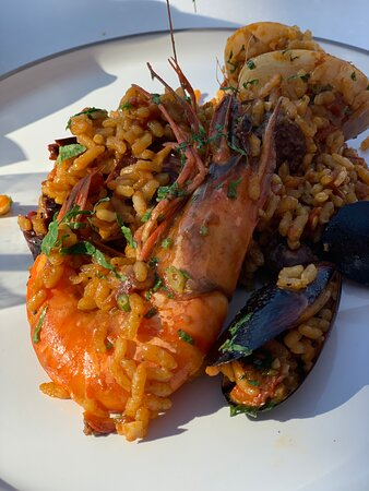 The Paella at Skafos was incredible! Fish freshly sourced earlier that morning!