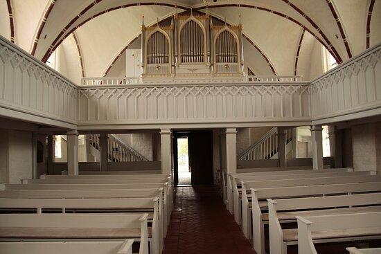Abtshagen, Mecklenburg-Vorpommern, Germany, Heilgeistkirche - choir and Buchholz organ.