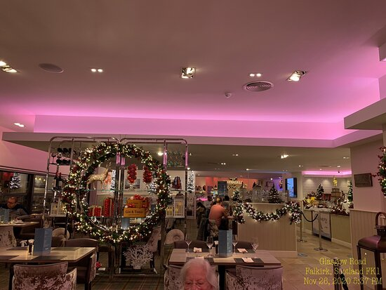 the Boardwalk on Thanksgiving with lovely lighting and Christmas Decorations Nov 26th 2020.