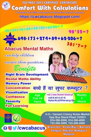 Abacus Classes in Pilani  https://cwcabacus.blogspot.com/