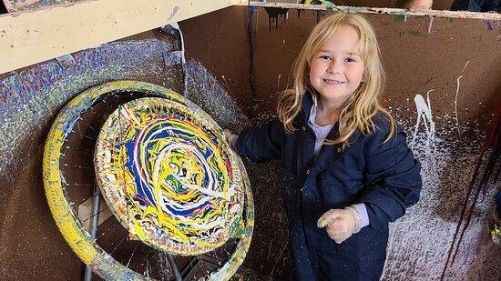 Spin art for kids