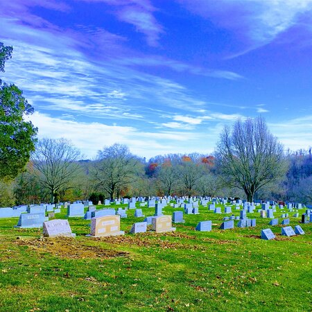 Elizabeth, PA: A beautiful view of Round Hill cemetery
