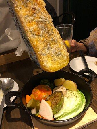 ラクレットチーズと野菜セット