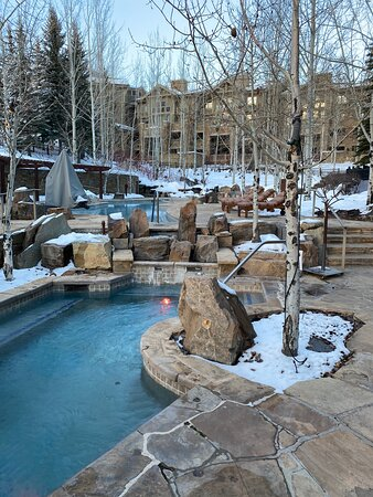Outdoor hot tubs and pool