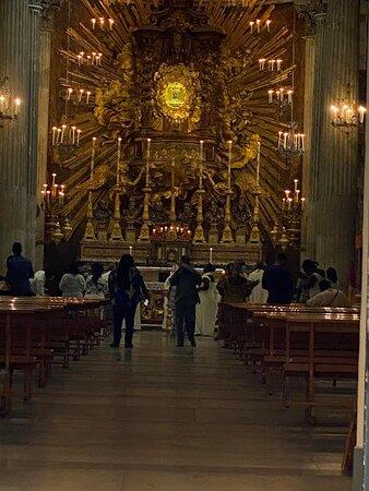 Interior, in the evening.