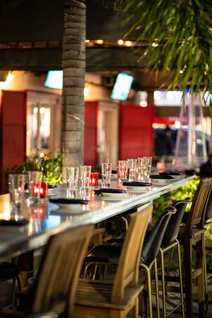 Dine with the family on a beautiful patio overlooking all of the Wynwood action.