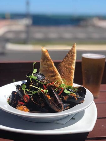 Chilli Mussels with a view