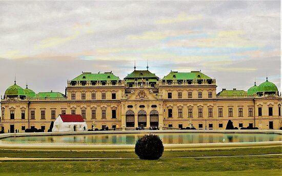Vienna, Austria: Schloss Belvedere was constructed for Prinz Oigen's Imperial summer villa..It was said  a Masterpiece of Rococo style architecture.