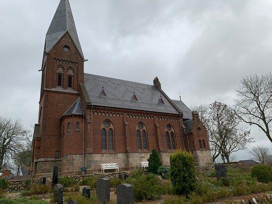 Harlev, Dinamarca: Kirken set fra syd