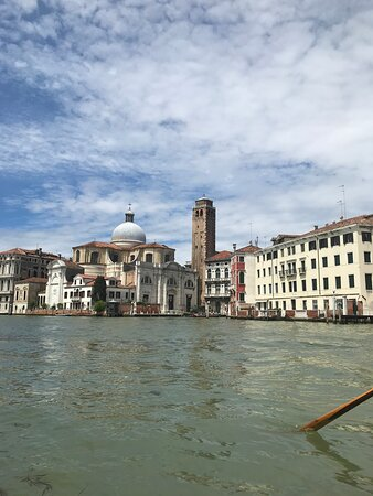 View of Venice from a Venetian gondola.