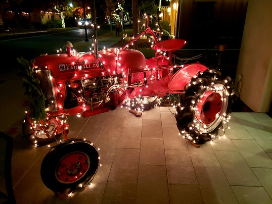 Tractor... All lit up for Christmas!
