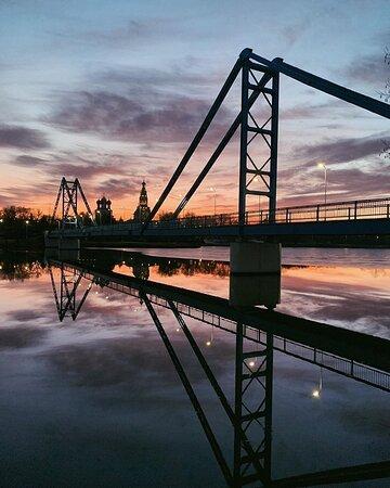 Мост через Бельское озеро - любимое место для фотосъемок.