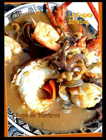 Sopa de Mariscos / Soupe de fruits de mer / Sea food soup