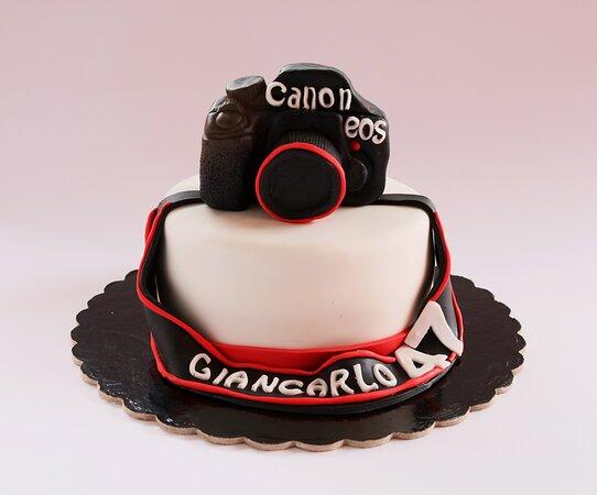 Torta Cake Design tema: macchina fotografica.