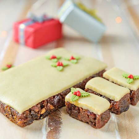 Getting you into the holiday spirit with our traditional Christmas Cake!