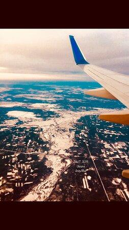 ยูเครน: Eight minutes from landing Kiev. Are you not cold ? Ms. Kiev ?