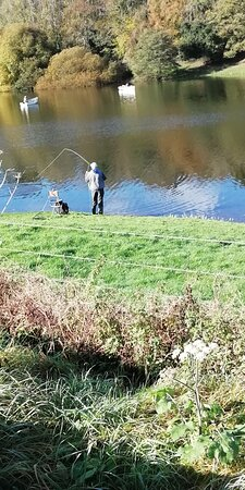 Spaxton, UK: Playing his catch