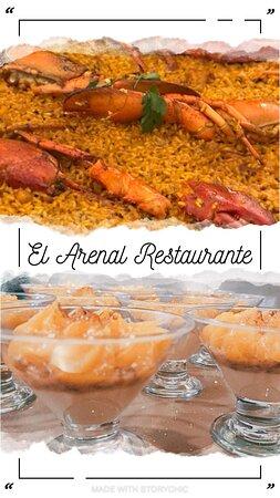 Disfruta de una buena comida como esta. Gran variedad de paellas y de platos. El Arenal Restaurante.