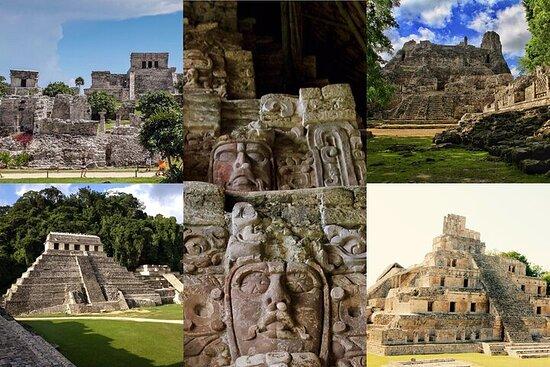 5 dager maya arv besøk Tulum Kohunlich Chicanna Becan Misol-Ha...