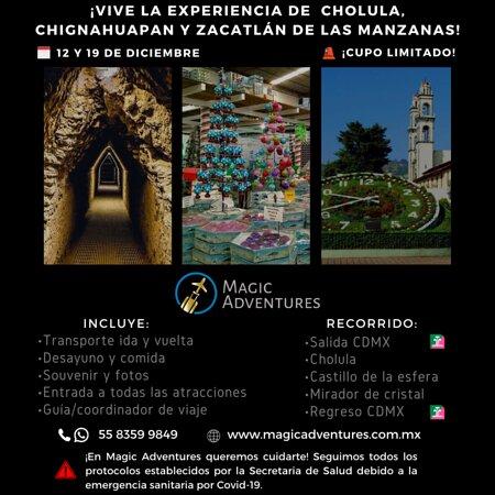 Chignahuapan, Mexico: ¡¡Vámonos a Puebla!! Visitaremos lugares mágicos que no te puedes perder.   🗓️  12 y 19 de diciembre  📞  Informes y reservaciones vía inbox o al tel. 55 8359 9849  ¡ACOMPÁÑANOS!